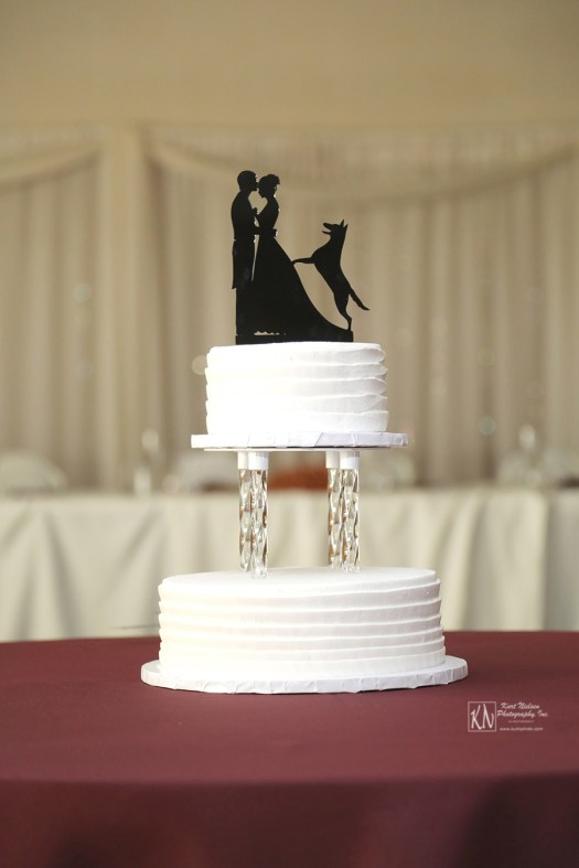 acrylic column wedding cake separator