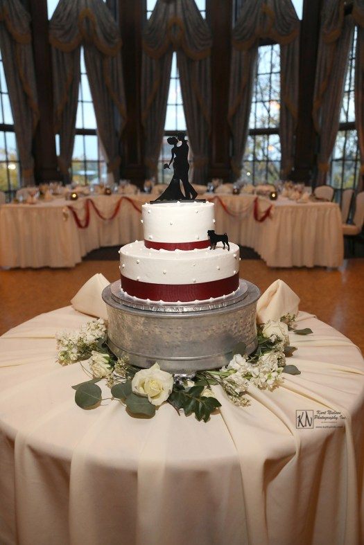 silver wedding cake base