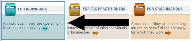 Registering on SARS eFiling as an individual