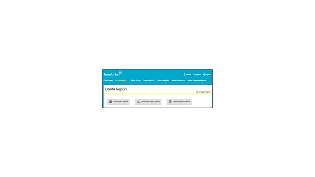 Downloading your Annual Free Credit Report from MyTransUnion .