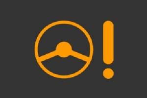 車のハンドルマークの警告灯