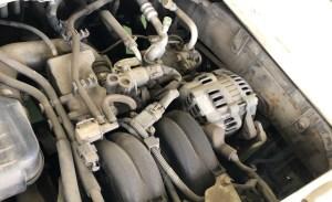 エンジンルームに熱がこもり発電機が壊れる