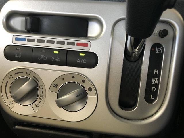 マニュアルタイプのエアコン操作パネル