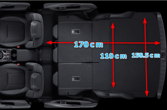 フォレスター車中泊荷室サイズ