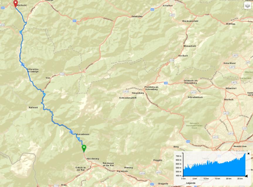 Routentipp: Höllental – Kalte Kuchl (Niederösterreich)