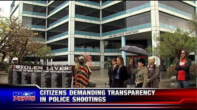 Citizens demanding transparency in police shootings