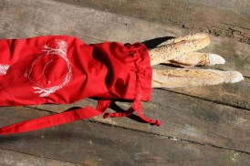 Cotton 'French Bread' bag Kuskat red, Yoga bag, Beach bag