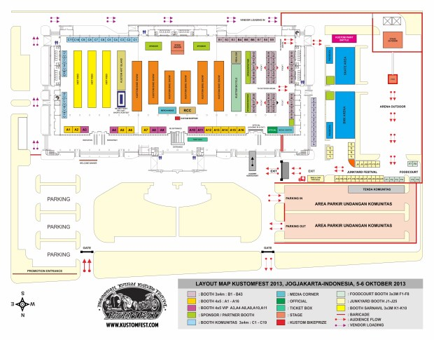 LAYOUT MAP KUSTOMFEST 2013