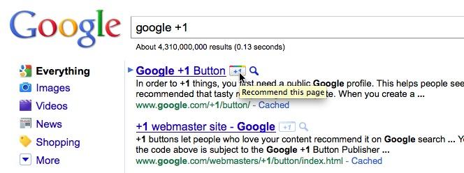 グーグル +1