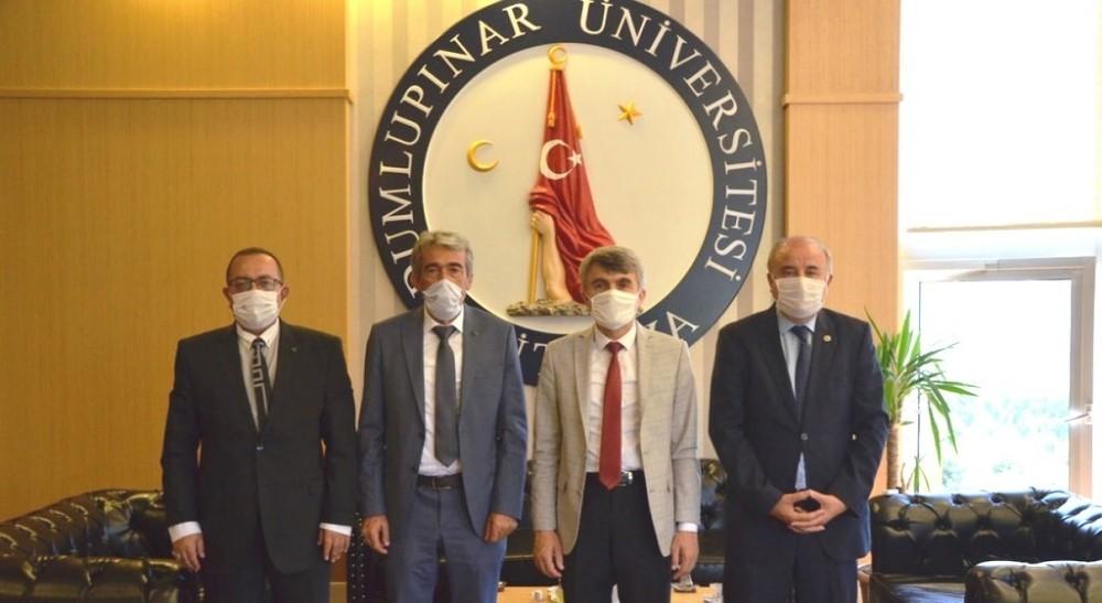 Helvacı'dan Rektör Uysal'a ziyaret