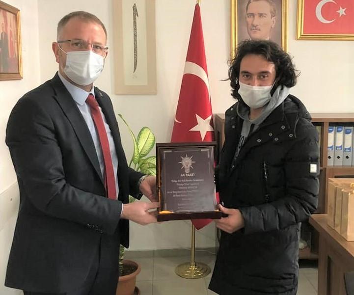 Başkan Ceyhun'dan Türkel'e teşekkür plaketi