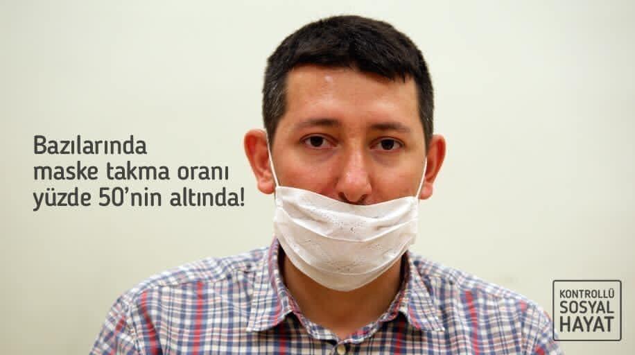 Kaymakamlıktan doğru maske kullanım uyarısı