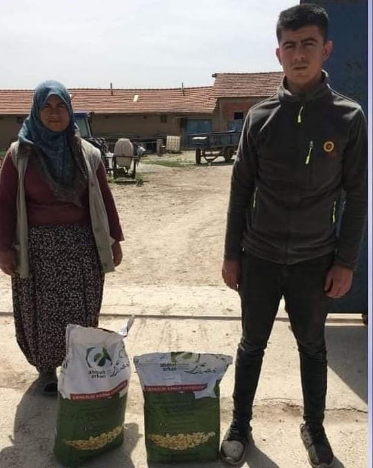 Köylere çerezlik kabak çekirdeği tohumu dağıtıldı