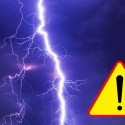 olejne ostrzeżenie przed burzami