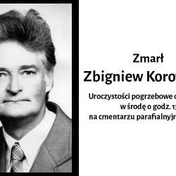Zmarł Zbigniew Korowajski. Pogrzeb w środę