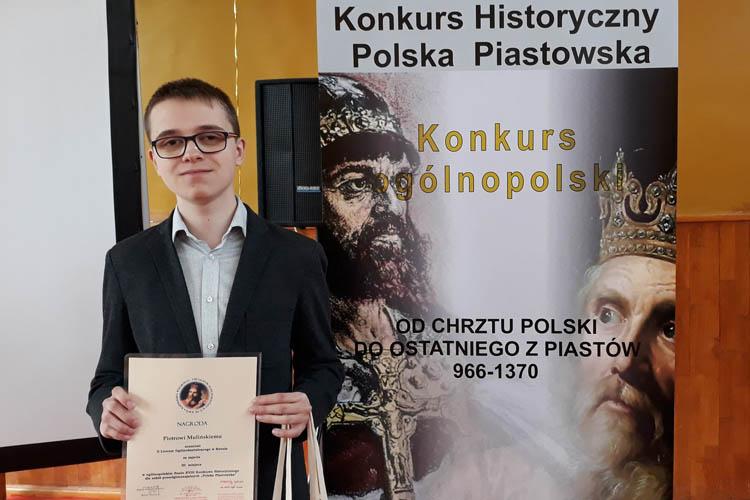Piotr Muliński laureatem olimpiady historycznej