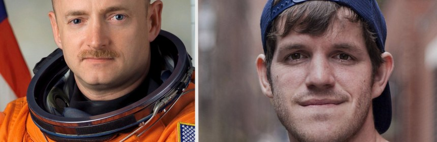Astronaut Captain Mark Kelly, left, will deliver the graduate commencement address on May 17, while  ​Brandon Stanton, photographer and founder of the popular Humans of New York photo blog will give the undergraduate commencement speech on May 19. (Photos courtesy of Kean University)