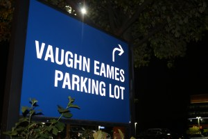 An entrance to the Vaughn Eames parking lot at Kean University. Credit: Rebecca Panico