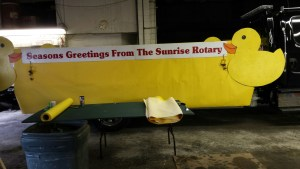 The Denville Sunrise Rotary Club's float for the annual Holiday Parade. Photo courtesy of Roland Basinski