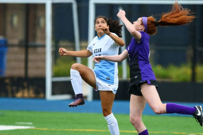 Freshman Adrianna Mouzakis has scored two goals so far this season Credit: Larry Levanti