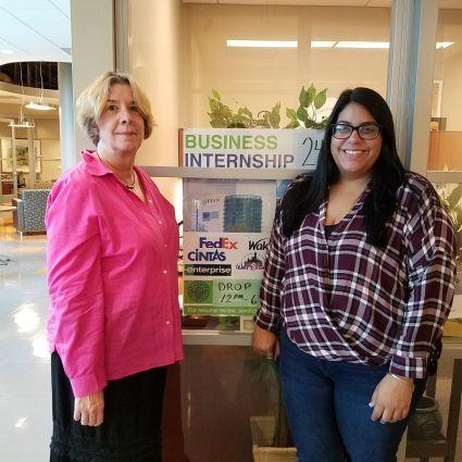 Internship Director Joanna Beiter (Right) and her assistant, Stephanie Livia (Left) Credit: Joshua Rosario