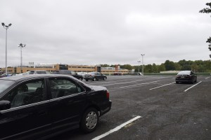 The lot has a lot of space for commuters finding trouble parking. Credit: Cody Louie