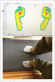 足裏の圧力と歩行分析!