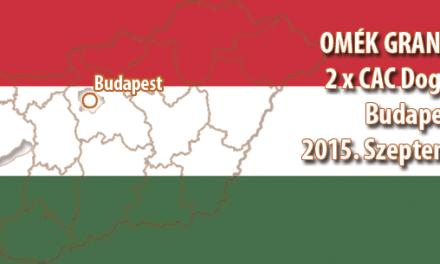 OMÉK GRAND PRIX 2 x CAC Dog Show – Budapest 2015. Szeptember 26.