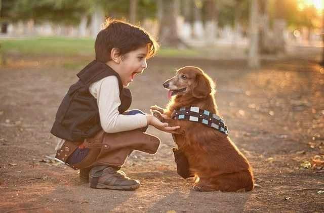 A gyermekek kutyákkal együtt még aranyosabbak