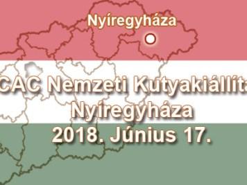 CAC Nemzeti Kutyakiállítás – Nyíregyháza – 2018. Június 17.