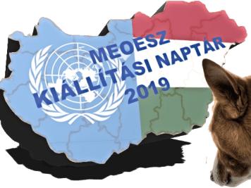 2019. évi kutyakiállítási naptár – Magyar Ebtenyésztők Országos Egyesületeinek Szövetsége