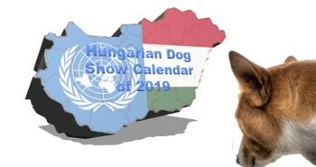 Hungarian Dog Show Calendar of 2019