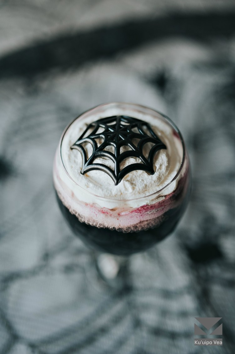 Black Widow Halloween Drink