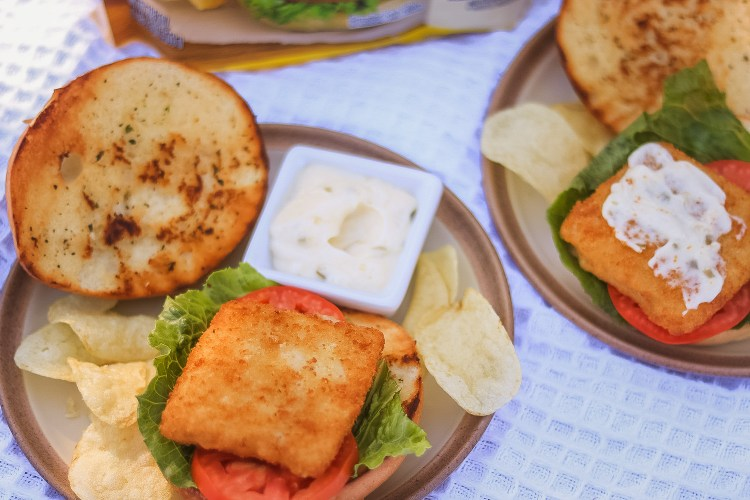 Classic Fish Sandwich with Homemade Tartar Sauce