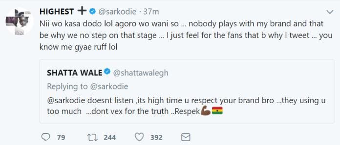 Sarkodie tweet