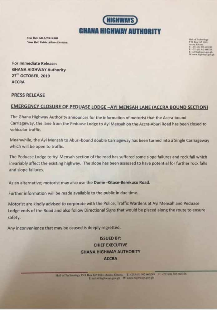 The Ghana Highway statement
