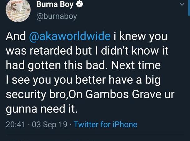 Burna boy Aka
