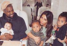 Kanye Kim Kardashian family
