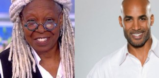 Boris Kodjoe and Whoopi Goldberg