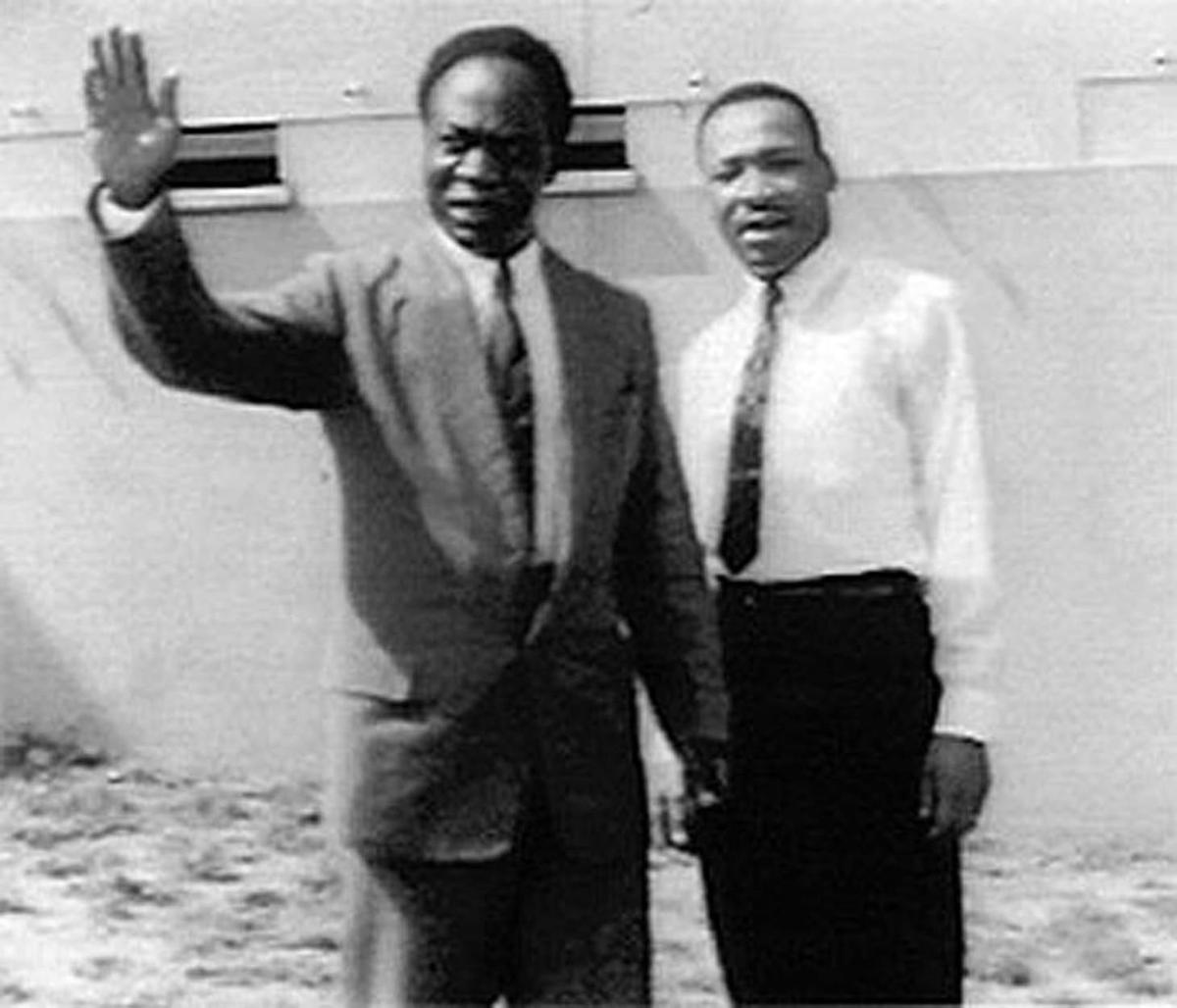Martin Luther King Jr. and Ghana's first President Kwame Nkrumah in 1957 (photo: Govt of Ghana)