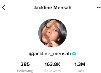 Tik Tok profile of Jackline Mensah photo via kuulpeeps.com