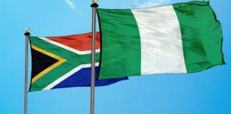Nigerian and South African Flags