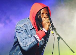 Stonebwoy performing