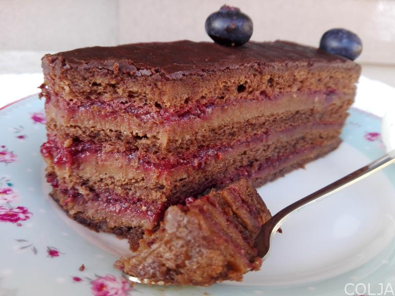 Baron torta načeto parče