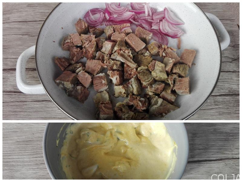 Kolaž juneća salata