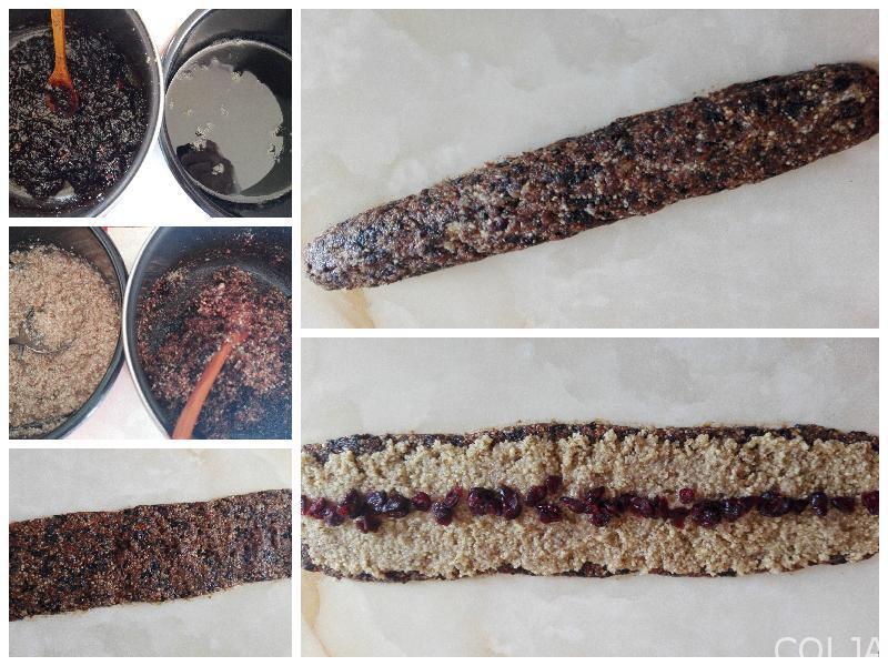 Kolaž kuglice i rolat sa šljivama