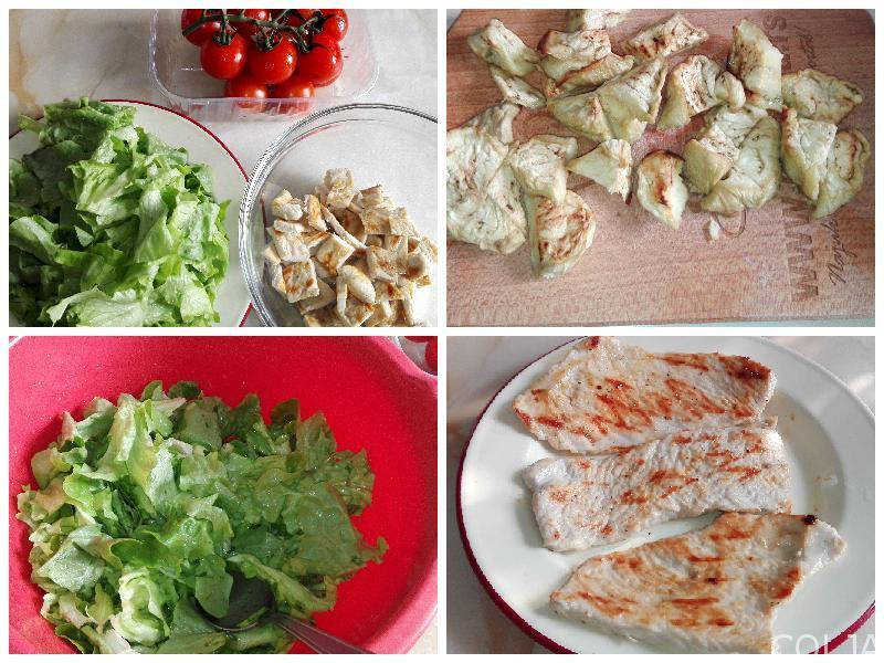 Kolaž salata sa grilovanom ćuretinom