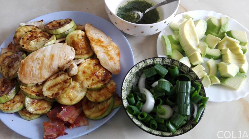 svi sastojci za salatu