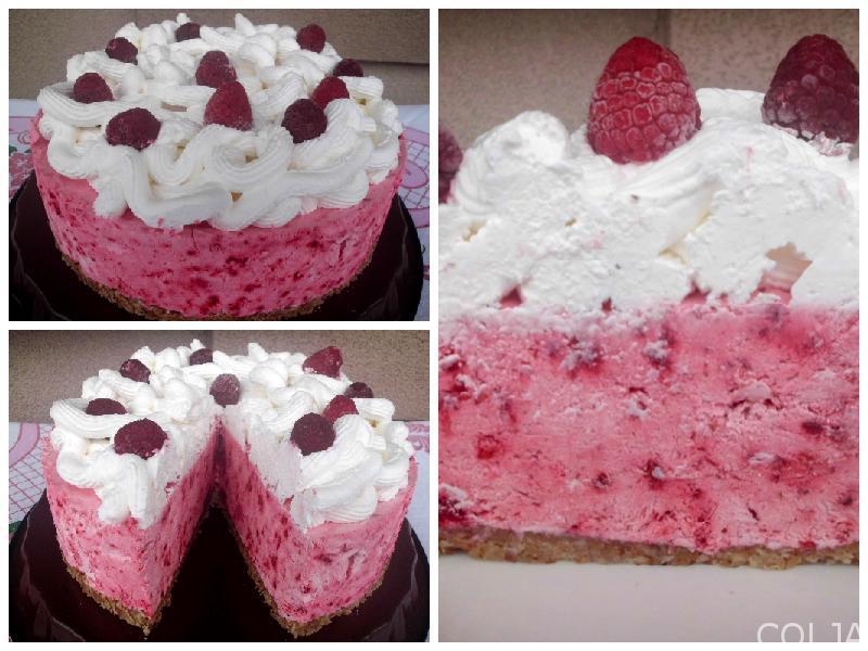 Sladoled torta sa malinama