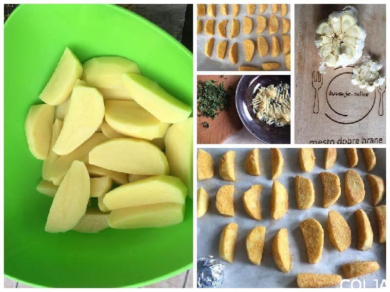 Kolaž hrskavi krompir iz rerne